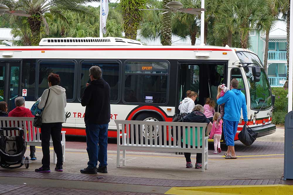 Epcot Transportation - Epcot Bus Stop