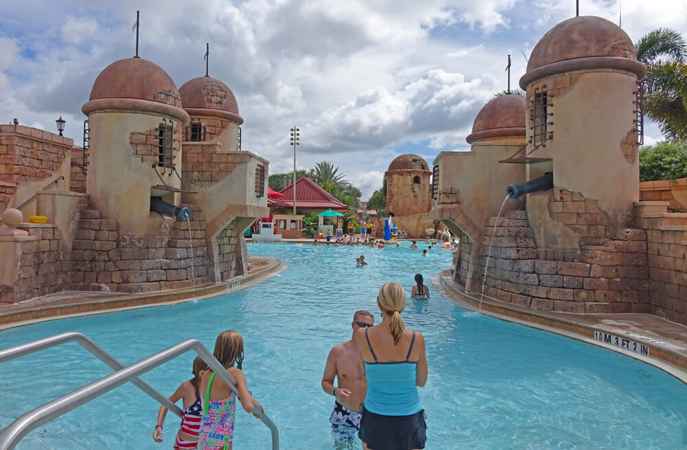 Best Disney World Hotels for Families - Disney's Caribbean Springs Pool