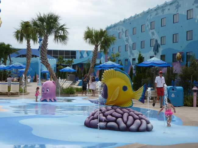Splash pad at Walt Disney World's Disney's Art of Animation Resort