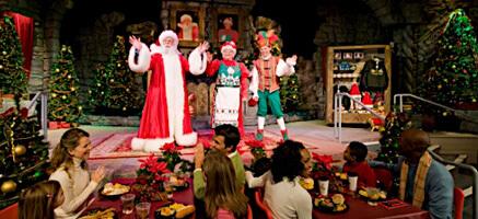 Santa at the Seafire Inn at SeaWorld Orlando