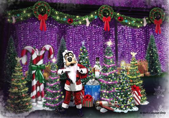 Santa Goofy at the Osborne Family Spectacle of Lights