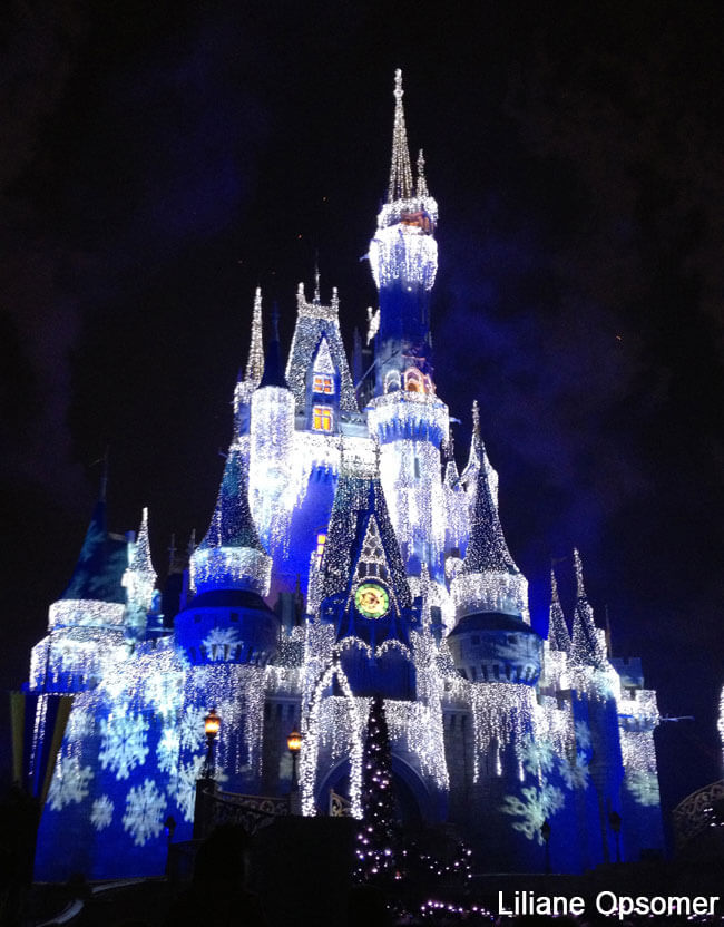 Cinderella Castle at Mickey's Very Merry Christmas Party