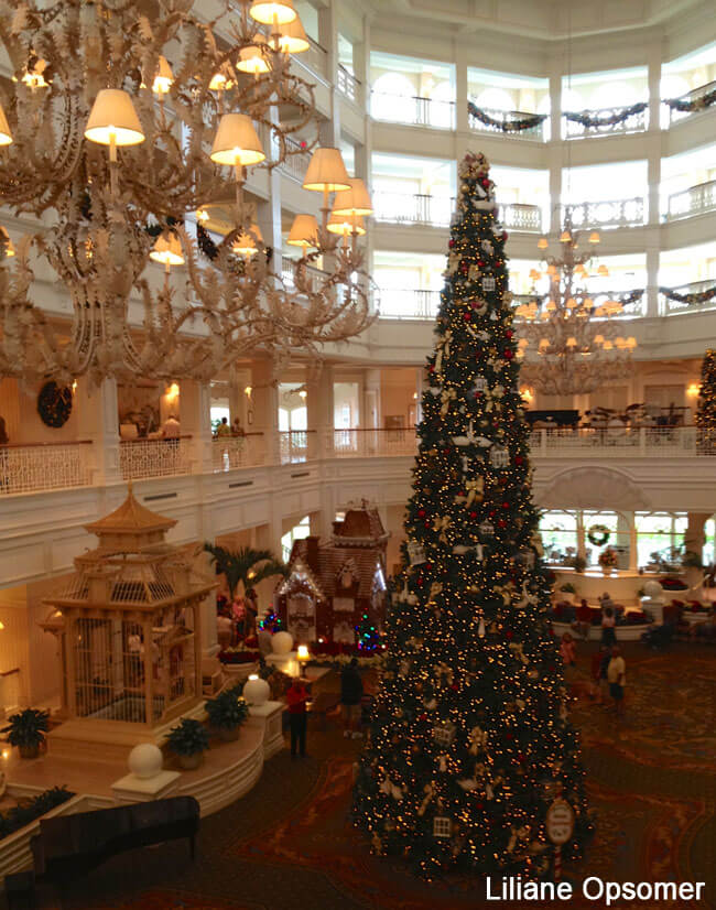 Christmas Tree at the Grand Floridian