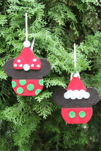 Disney Craft: Mickey and Minnie Caramel Apple Ornaments