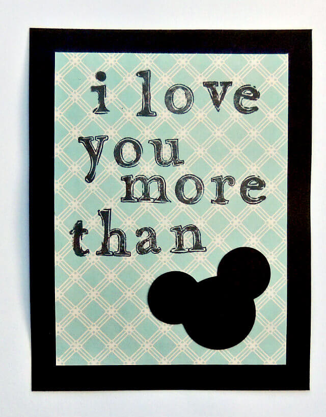 Disney Mickey Valentine Card