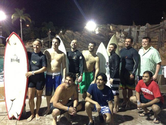 Surfing group at Disney's Typhoon Lagoon Water Park
