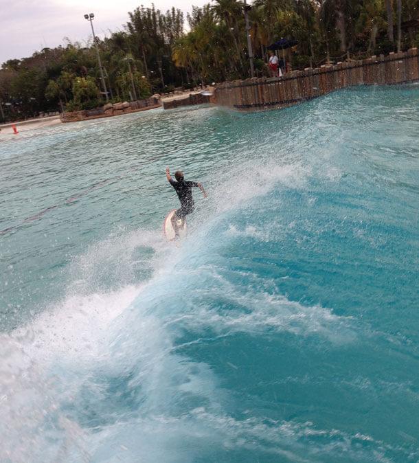 Surfing at Disney's Typhoon Lagoon Water Park