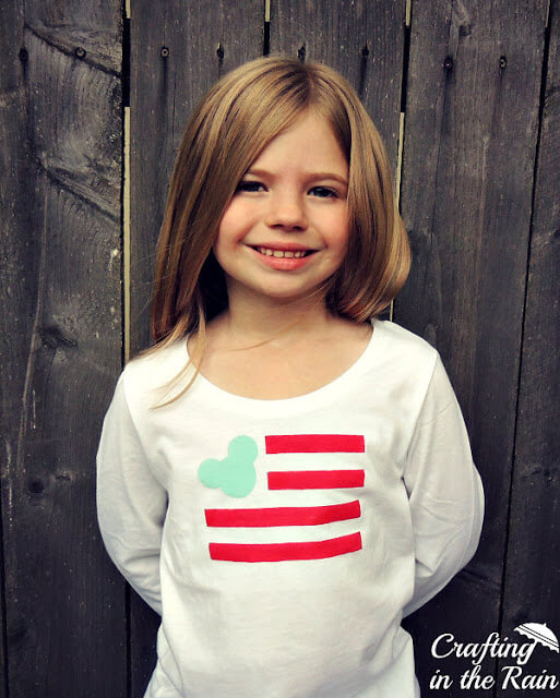 Mickey Flag T-Shirt