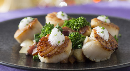Scallops at California Grill