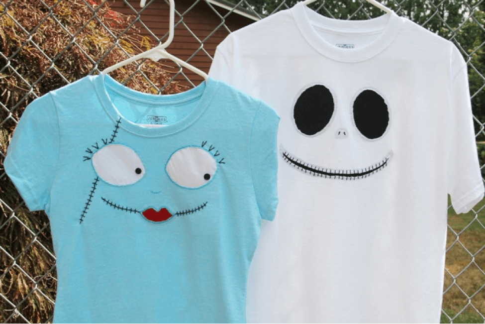 Disney Craft Jack Skellington Sally T Shirts In Time For Mickey S