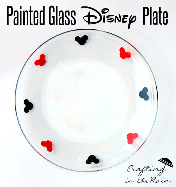 Disney Craft: Epcot International Food & Wine Festival-Inspired Painted Glass Plate