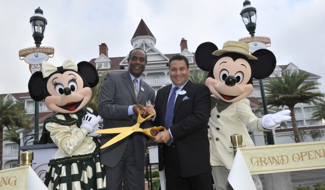 Parks news disney debuts plush villas at grand floridian talking minnie and mickey at the official opening of the villas at disneys grand floridian m4hsunfo