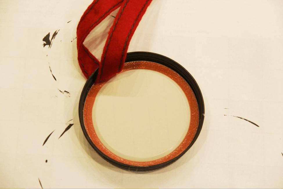 Mickey Mason Jar Lid Ornament