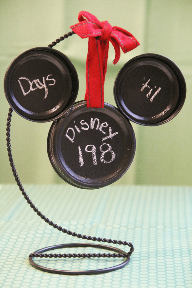 Disney Craft: Mickey Countdown 'Til Disney Ornament