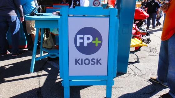FastPass+ tips kiosk