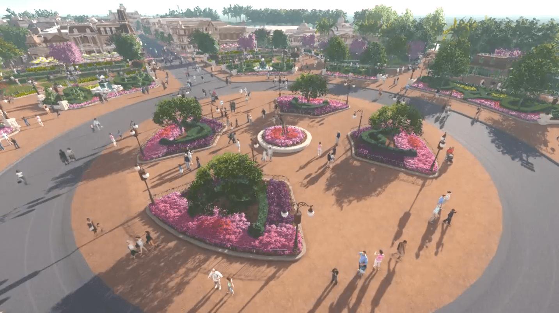 Disney Remodeling the Magic Kingdom 'Hub' in Front of Cinderella Castle