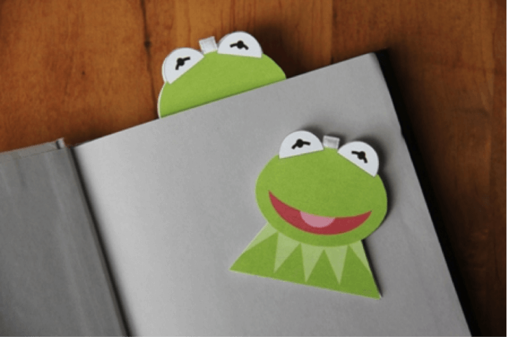Easy Kermit the Frog Magnetic Bookmark DIY How to Make