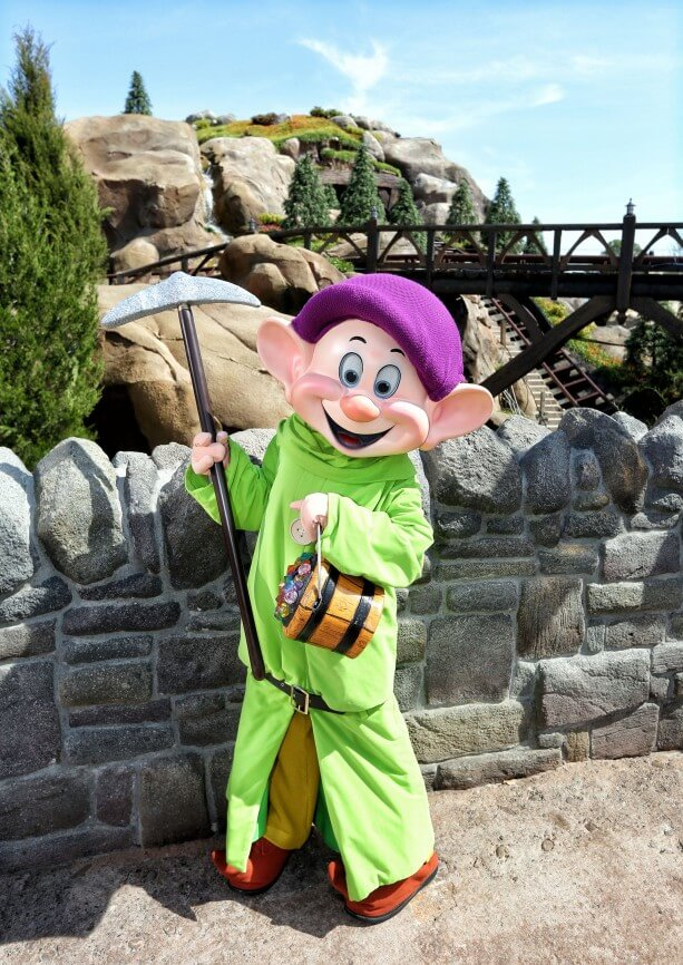 Dopey Drops In On Seven Dwarfs Mine Train As It Gets Closer to Completion