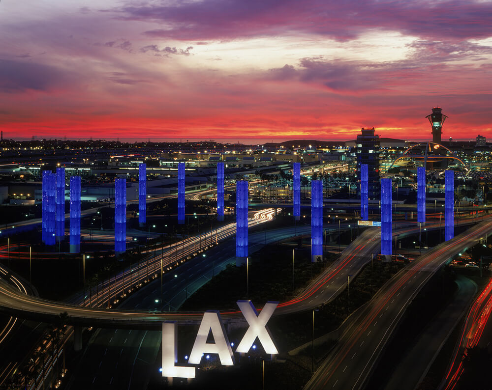 Your Complete Guide to Los Angeles Transportation Options - LAX at Night
