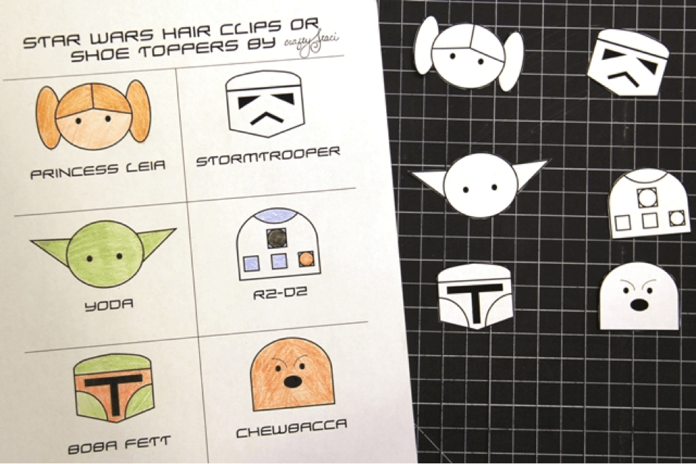 Disney Craft: Star Wars Hair Clips or Shoe Toppers