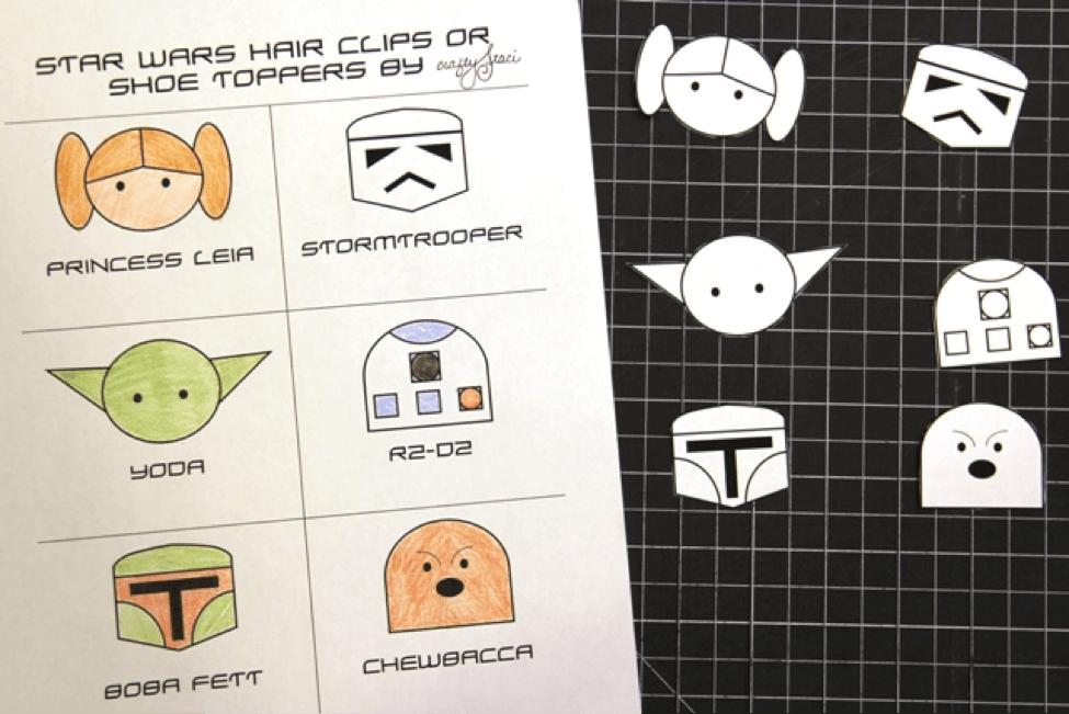 Disney Craft: Star Wars Hair Clips