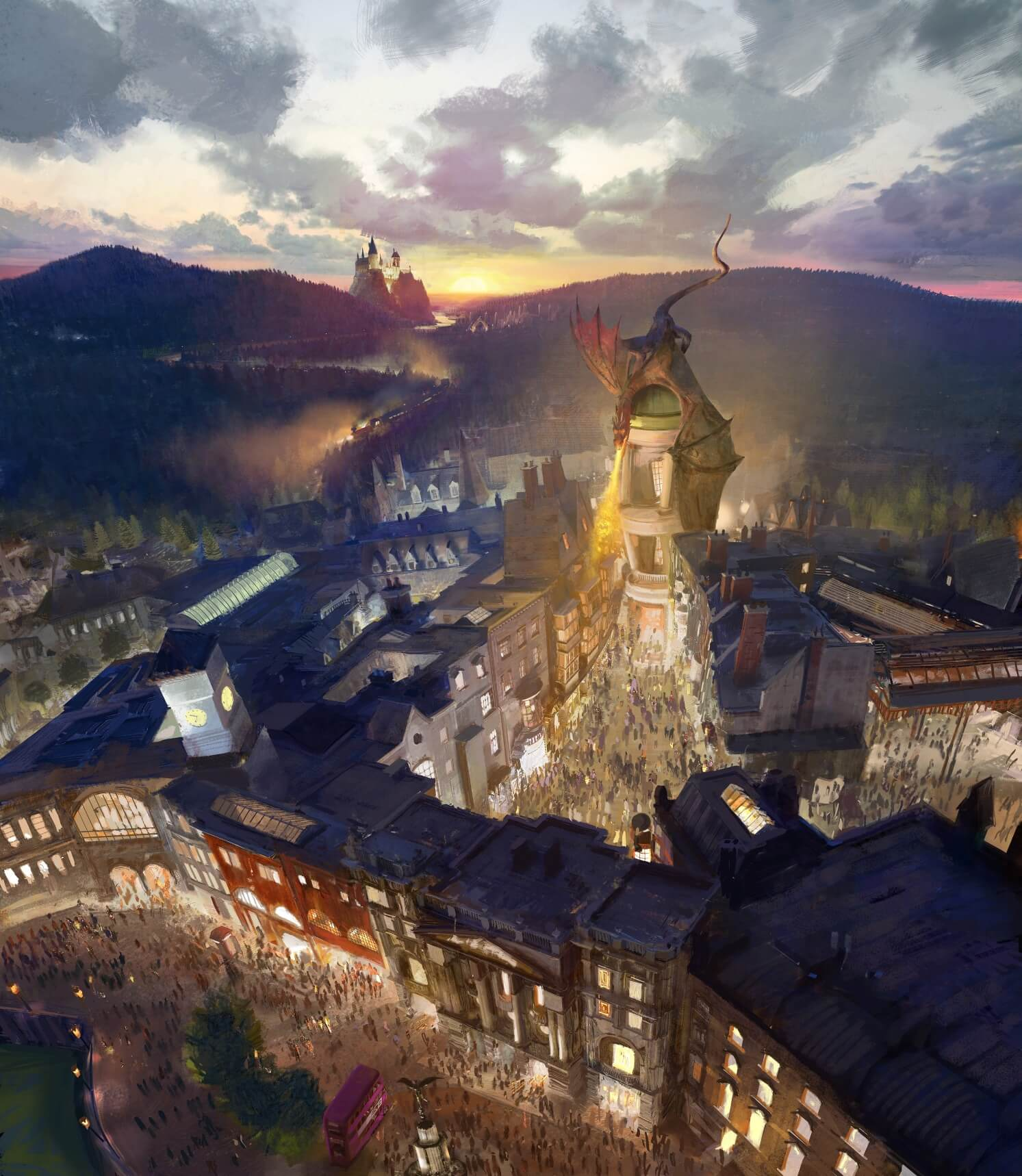 The Wizarding World of Harry Potter - Diagon Alley RenderingLR-2