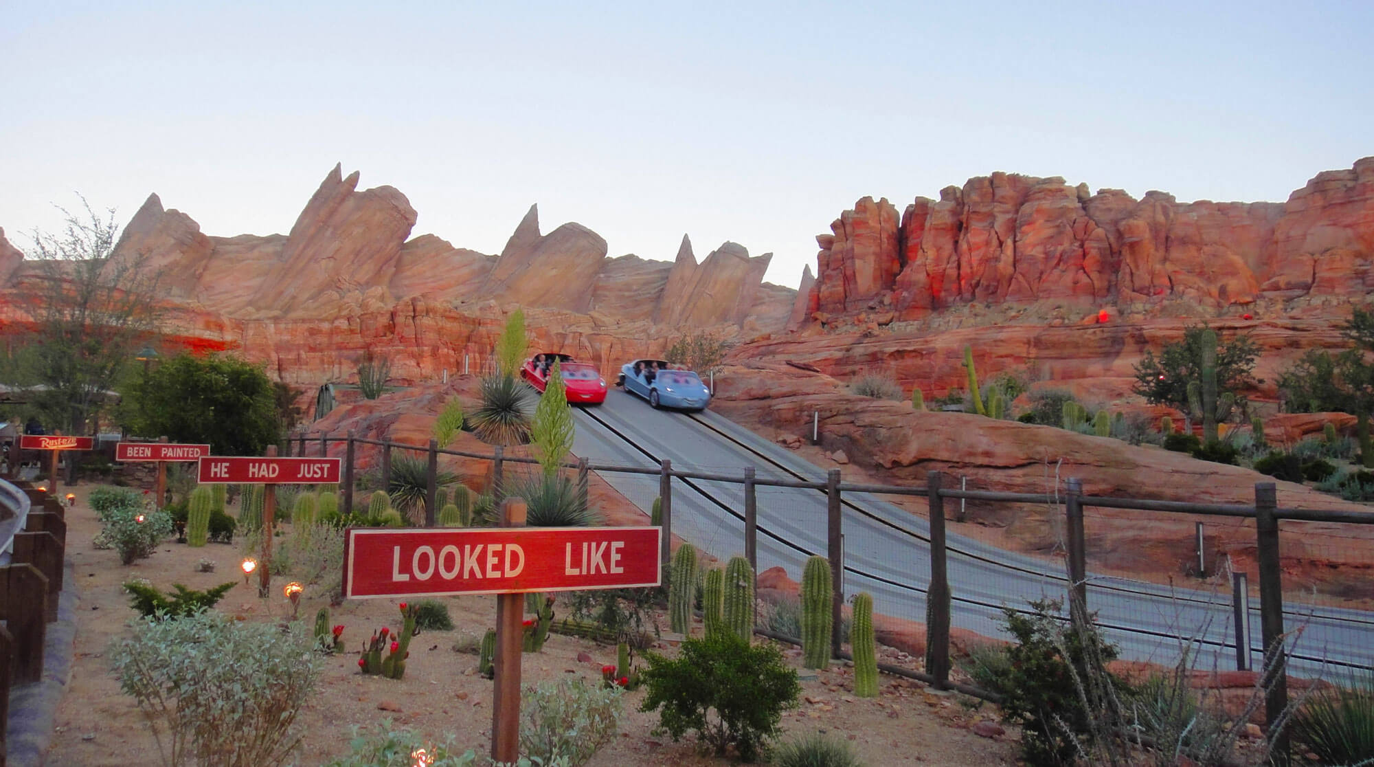 Benefit of staying at a Disneyland Resort Hotel - Radiator Springs Racers