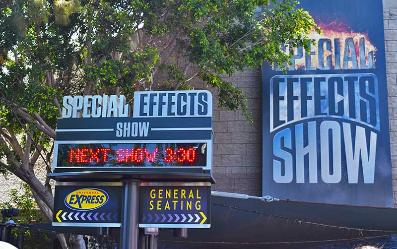 Not-to-Miss Universal Studios Hollywood Attractions and Shows - Special Effects