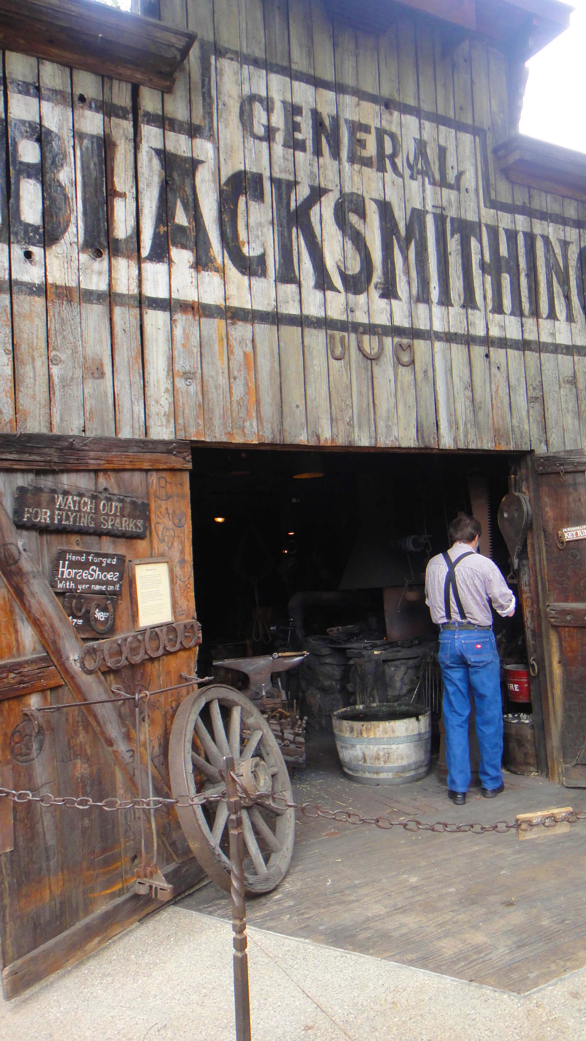 Not to miss Knott's Berry Farm - Blacksmith