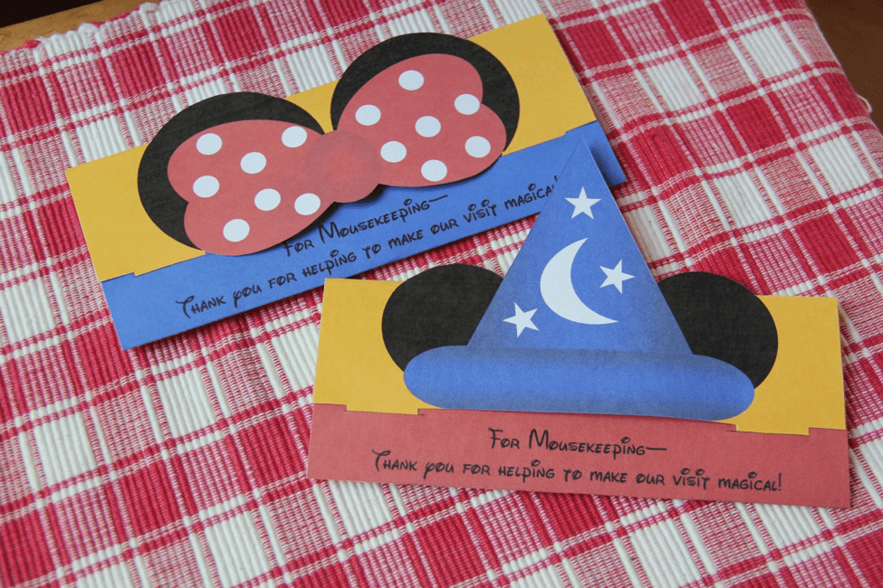mousekeeping envelope printable