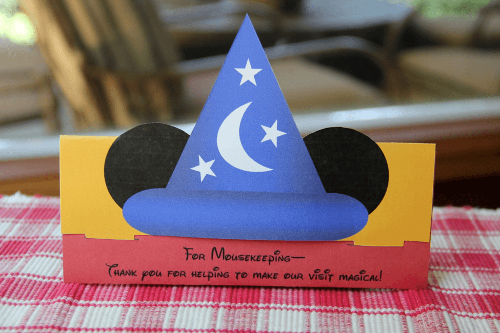 picture regarding Disney Printable Envelopes called Printable Mousekeeping Idea Envelope for Your Upcoming Disney Family vacation!