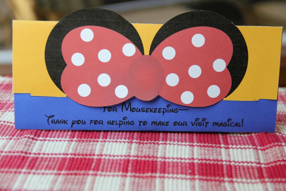 mousekeeping envelope printable