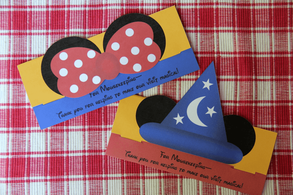Printable Mousekeeping Tip Envelope for Your Next Disney Trip!