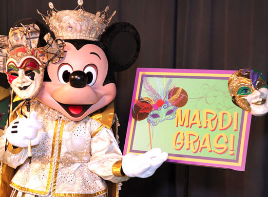 Disneyland Events in 2018 and 2019 - Mickey Mouse at Mardi Gras