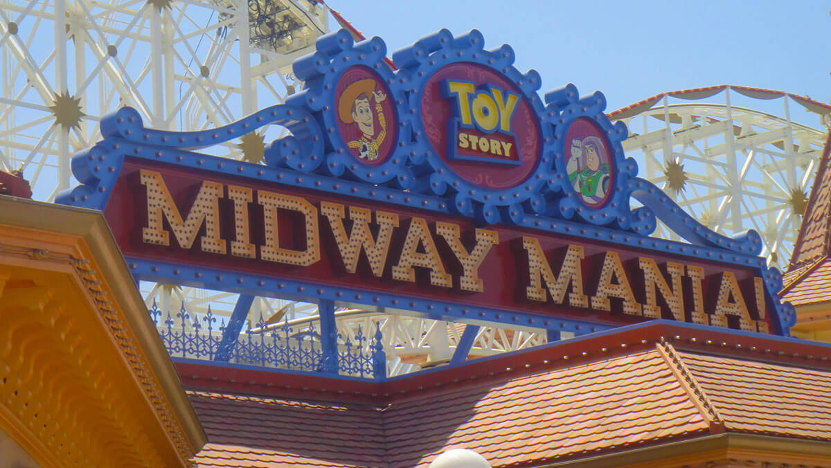Not to miss Disney California Adventure rides and attractions - Toy Story Midway Mania!