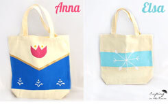 DIY Anna and Elsa Trick-Or-Treat Bags