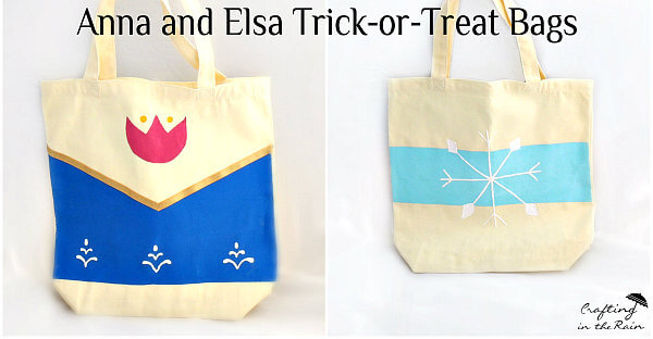 Anna and Elsa Trick-or-Treat Bags