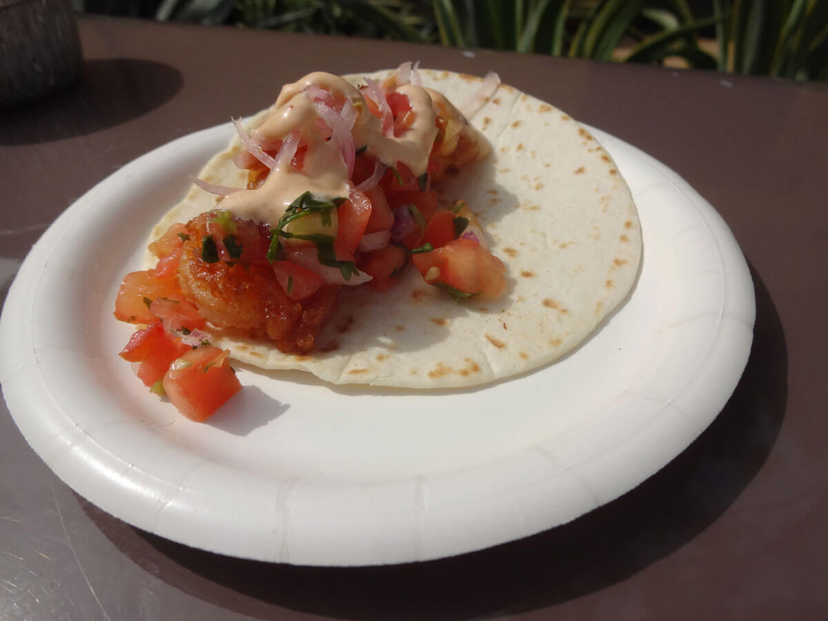 Epcot Food and Wine Dishes 2014 - shrimp taco