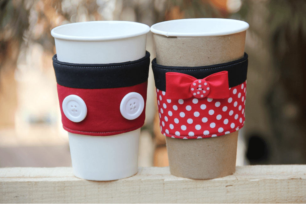 Cutest Mickey and Minnie Coffee Cup Sleeves