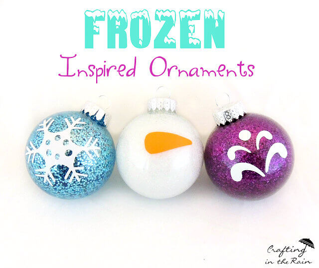 Easy DIY Frozen-Inspired Ornaments