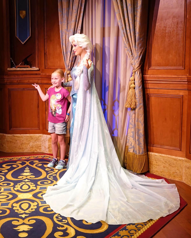 Meeting Elsa and Anna at Disney World - Queen Elsa