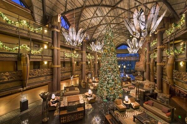 Disney's Animal Kingdom Lodge Christmas tree