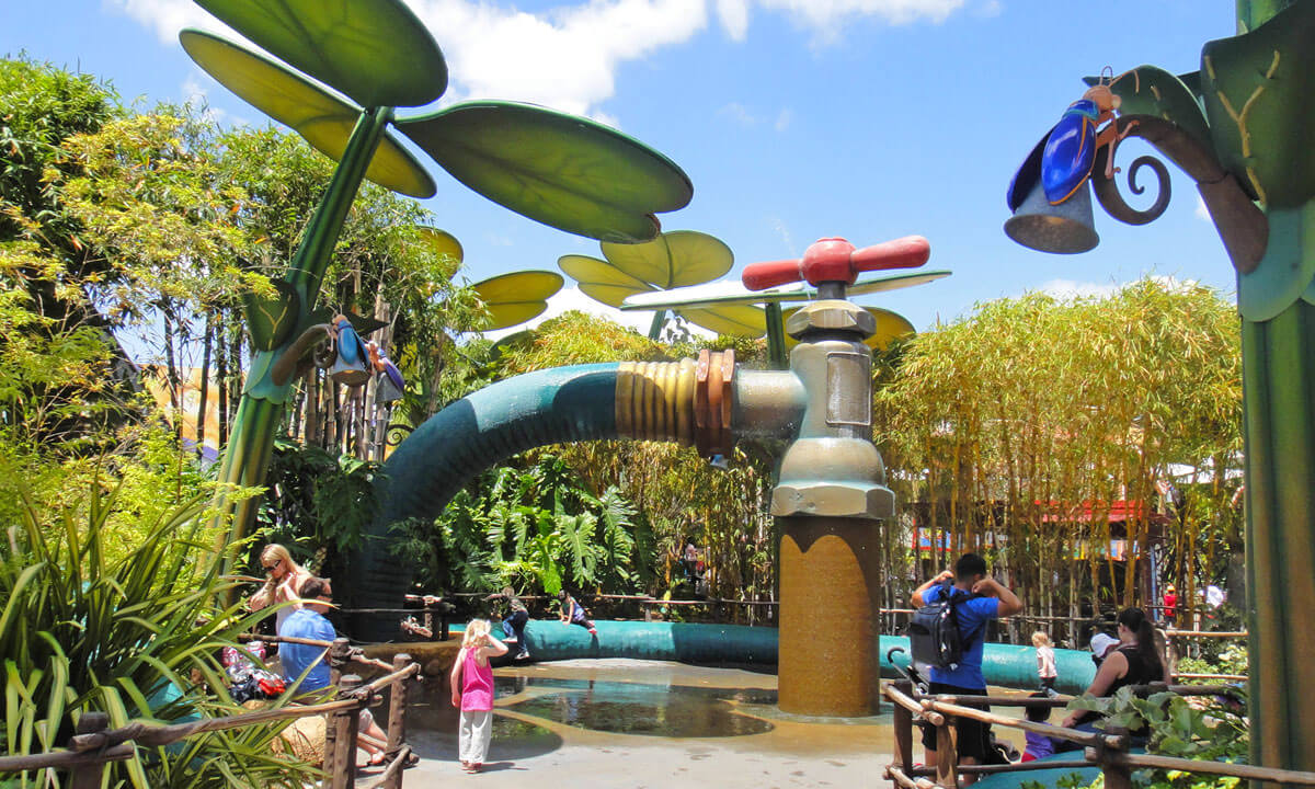 Southern California theme parks by age - Bug's Land at Disney California Adventure