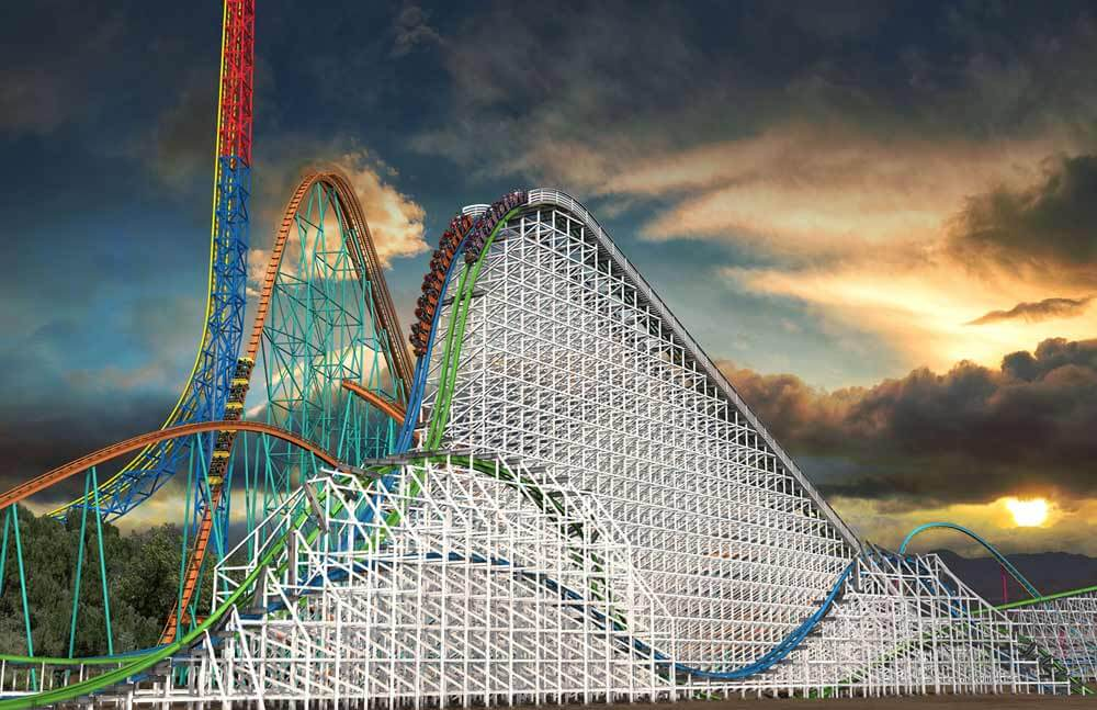 Best Theme Parks in California by Age Group - Twisted Colossus at Six Flags Magic Mountain