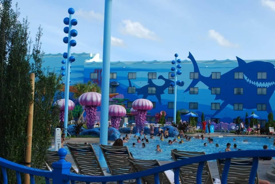 Disney World in Winter - Art of Animation pool