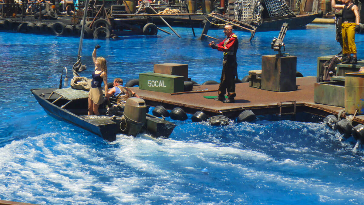 Southern California theme parks by age - WaterWorld at Universal Studios Hollywood