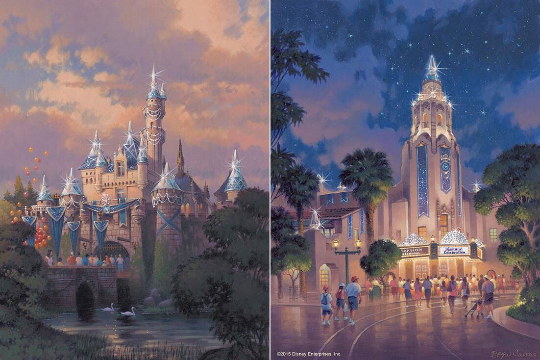 Disneyland Resort Diamond Celebration - Sleeping Beauty Castle and Carthay Circle Theatre