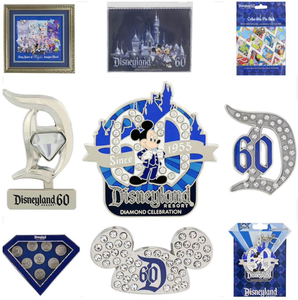 Disneyland Resort Diamond Celebration - pins