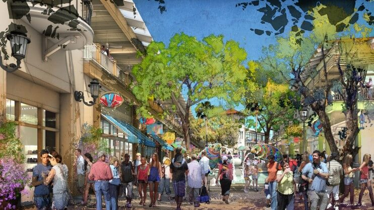 Downtown Disney - Disney Springs - Town Center rendering