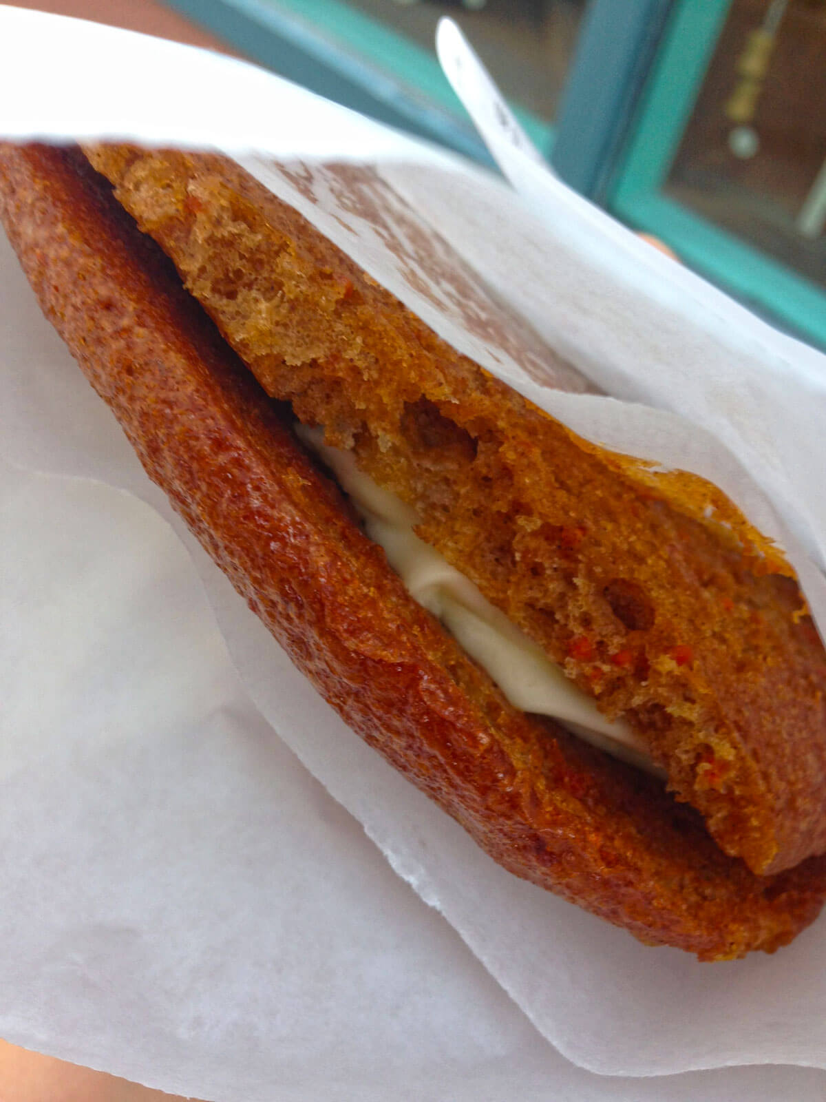 Most filling snacks at Disney World - CArrot Cake Cookie